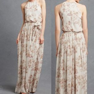 DONNA MORGAN Alana Floral Maxi Dress Gown Formal 6